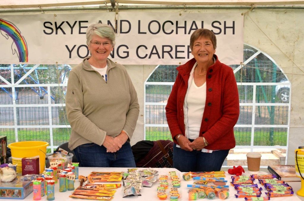 Gill Adams and Morag MacDonald at the Skye and Lochalsh Young Carers stall.