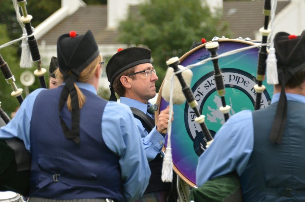The Isle of Skye Pipe Band entertained the crowds on the day.