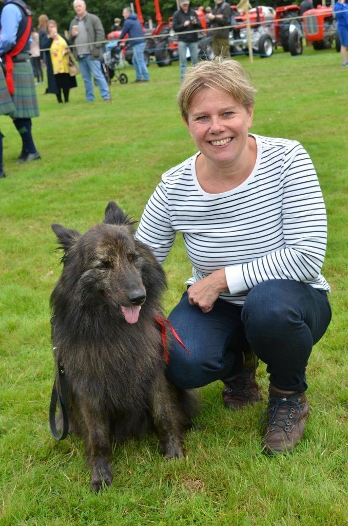 Vicky Geurts from the Netherlands brought her Dutch Shepherd Sarah to the show while visiting Skye.
