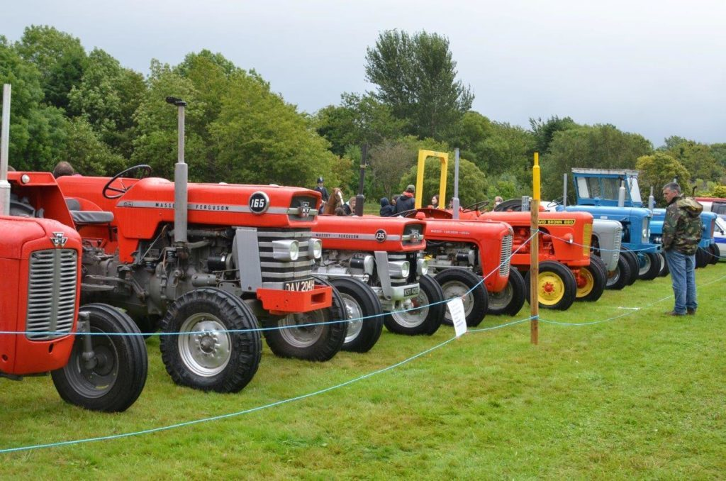 A line-up of magnificent tractors.