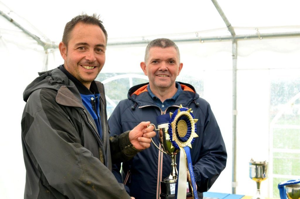 The Supreme Champion of 2018 went to William Gordon on Glenhaultin Charlie, who also trotted away with the Champion Riding Horse trophy. He is pictured with Councillor John Gordon who handed out the prizes on the day