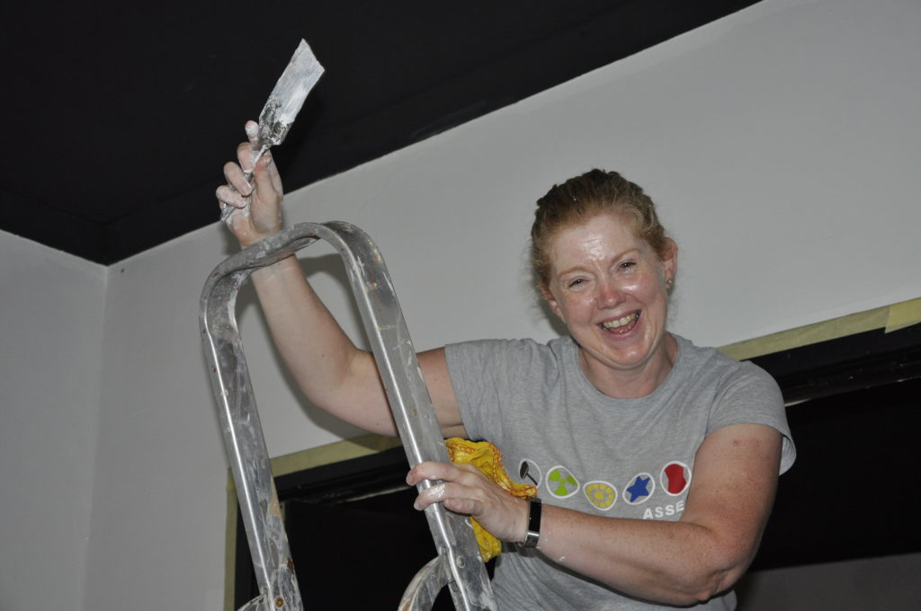 Jane Dodd takes volunteering to new heights, up the ladder at the Pheonix Cinema.