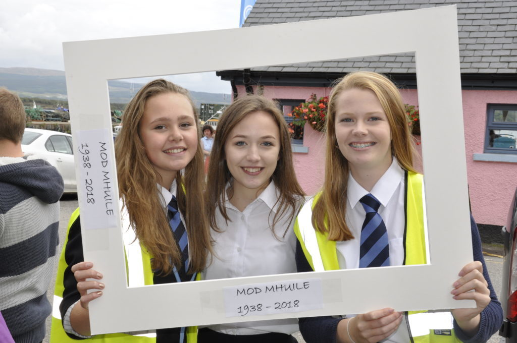 Tobermory High School students, Daisy Buchanan, Holly MacLean, and Lilly Hargreaves, all helped ensure the event ran smoothly. 17_T37_MullMod16