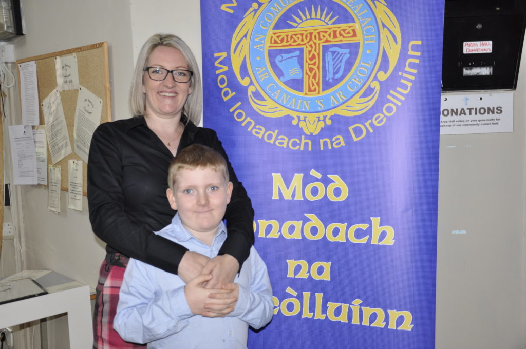 Cathanne MacLean alongside her son Ruaraidh. Cathanne competed in the Mod for the first time in 20 years. 17_T37_MullMod20