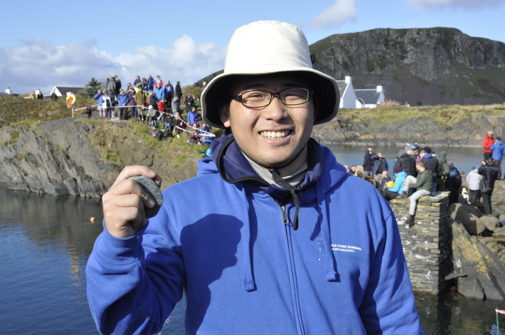 Last yLast year's champion, Keisieke Hashimoto. 17_T39_StoneSkimming10