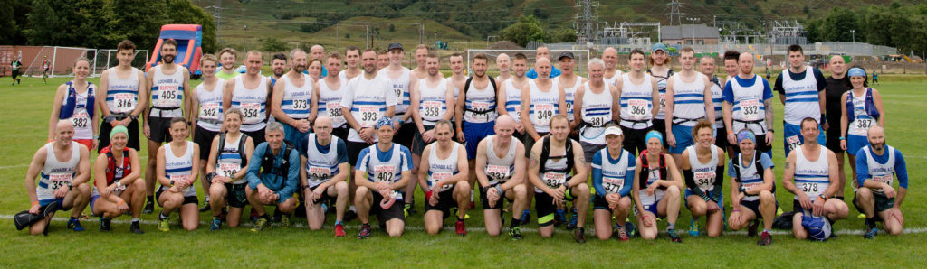 There was a huge Lochaber Athletic Club contingent at the race. NO F36 Ben Race 05