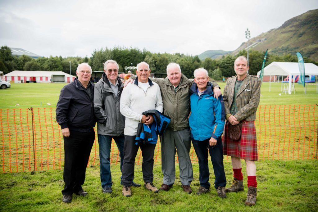 Some of the helpers and organisers at Claggan Park on Saturday. NO F36 Ben Race 12