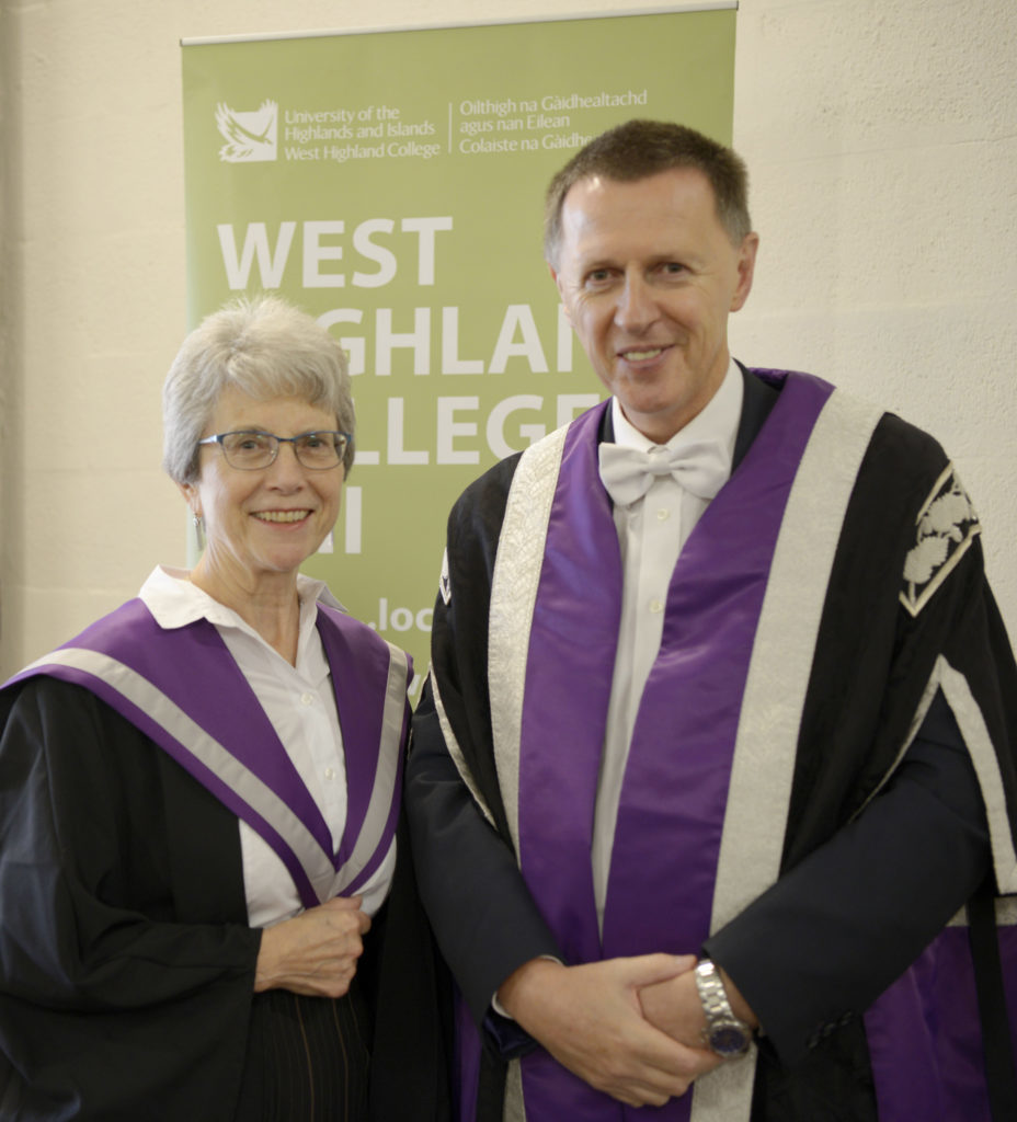 Brenda Grant, winner of the Professor James Hunt Dissertation Prize, with  with Clive Mulholland.  NO-F41-WHC-BRENDA-GRANT-CLIVE-MULHOLLAND.jpg