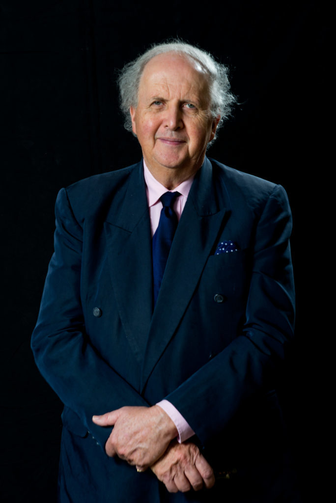 Alexander McCall Smith, Botswana born Scottish writer. Photographed at his home in Edinburgh, Scotland. 2nd April 2014. Picture by Alex Hewitt/Writer Pictures