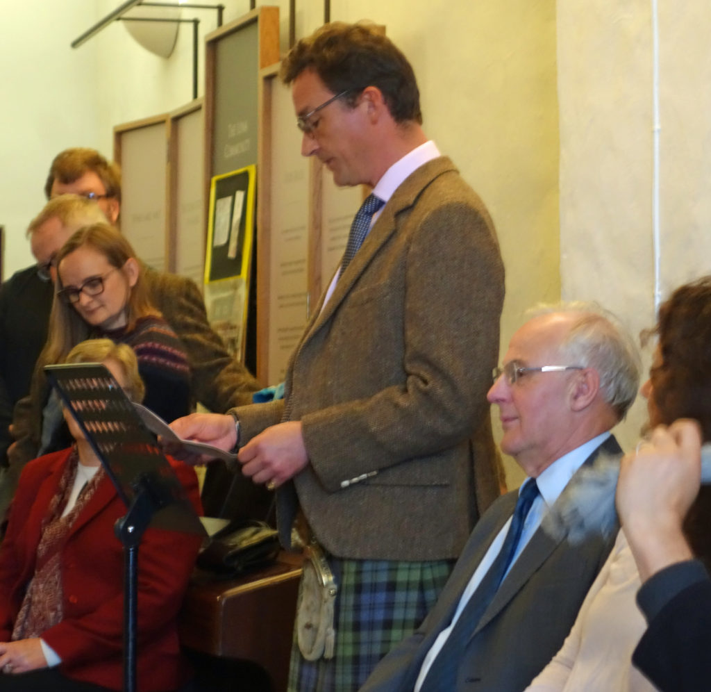 The Duke of Argyll addressing guests at the official opening