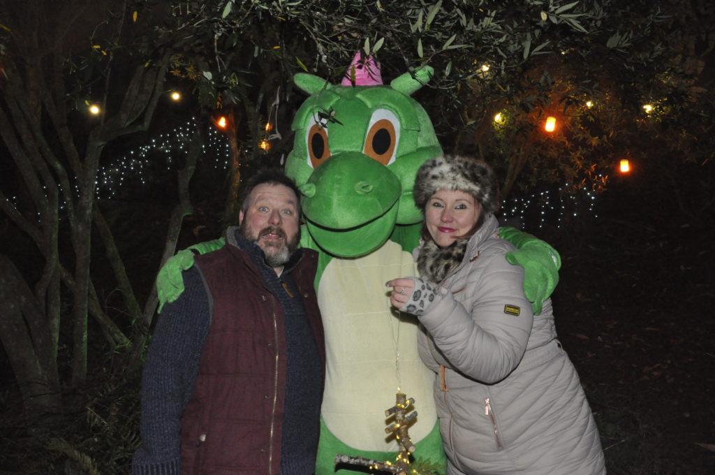 Drew Lucas and Keri Treeby met Desmond the Dragon. 17_T48_WinterFestivaSaturday12
