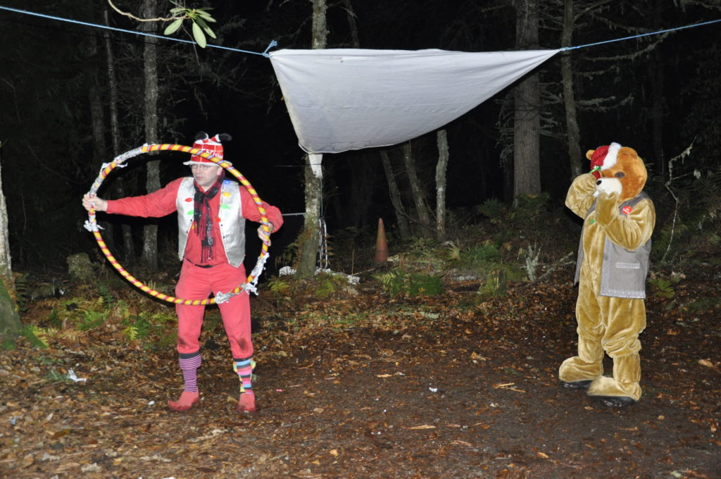 There was a bear in the woods. 17_T48_WinterFestivaSaturday15