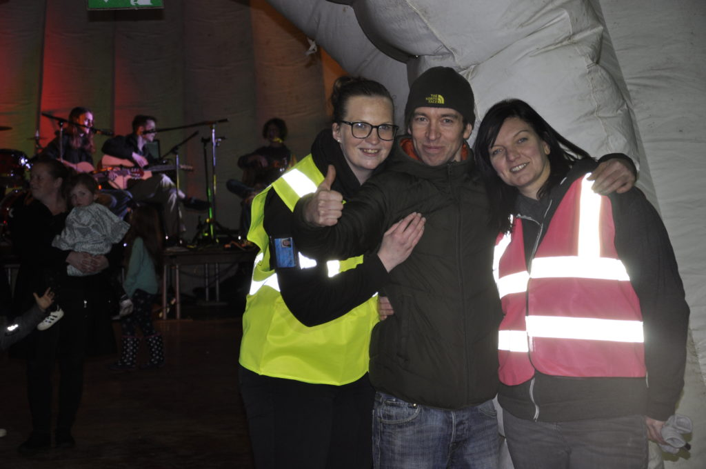 Diane MacLean, Stevo Finlayson and Angela Anderson enjoyed the gig in the Igloo Dome. 17_T48_WinterFestivalFriday01