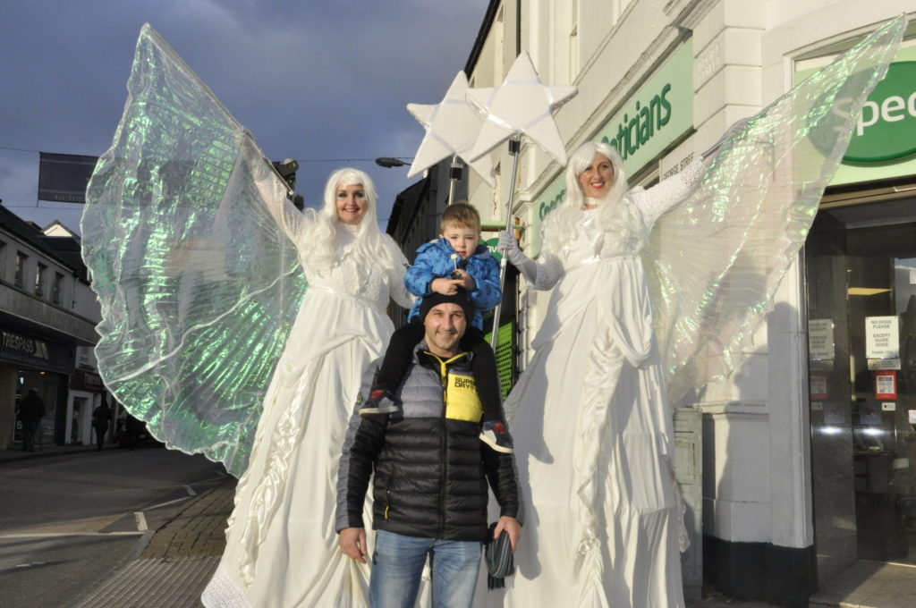 Danny and Jack Baker with the 'Ice Queens'. 17_T48_WinterFestivalSunday03