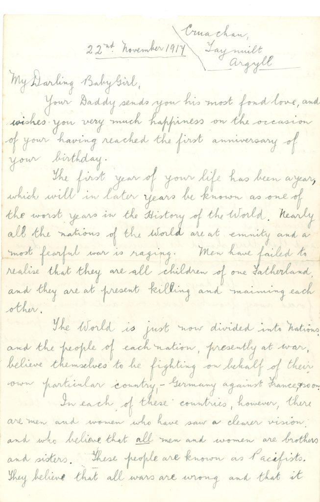 Robert Climie's letter Pic Peter Devlin