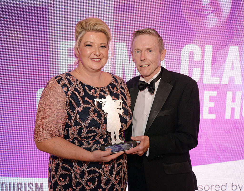 David Scott, director commercial banking, the Royal Bank of Scotland, with Emma Clark, Glenegedale House. Picture: Gair Fraser