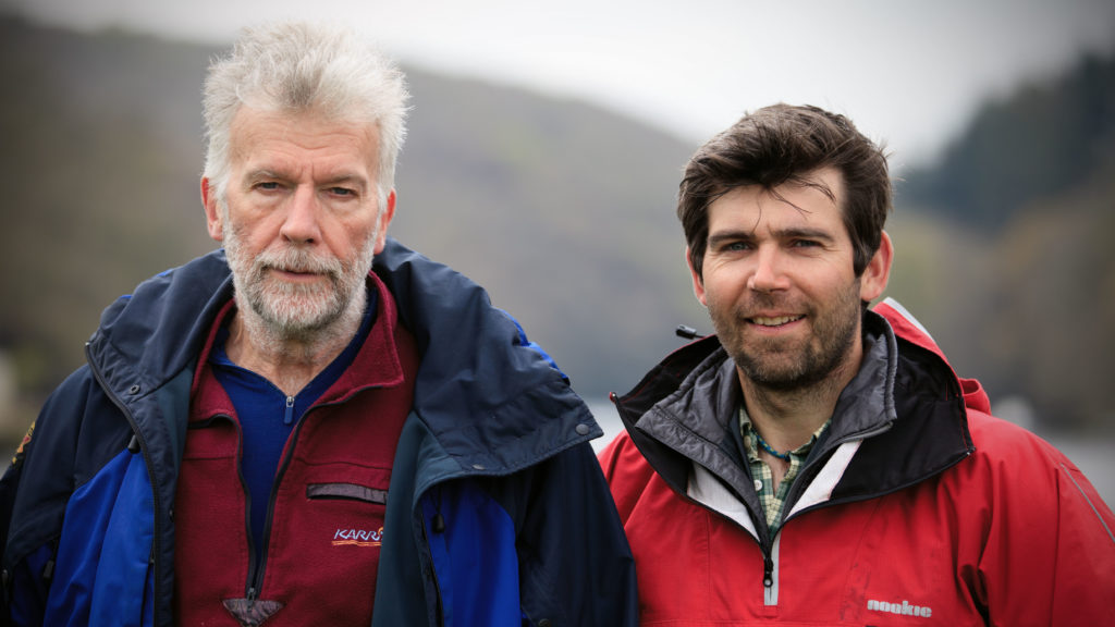 Dad Niall with son Chris Lucas on their five-week expedition, spending time together.