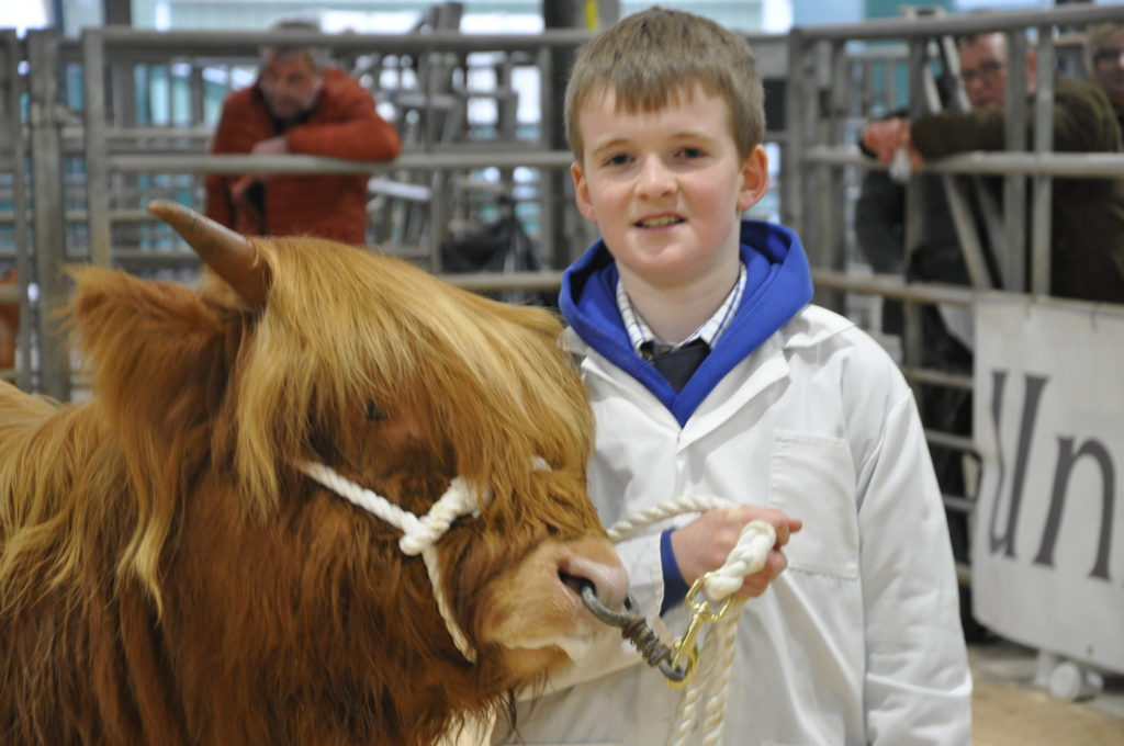 Best junior young handler was Lewis Ralston, 11, from Jedburgh.