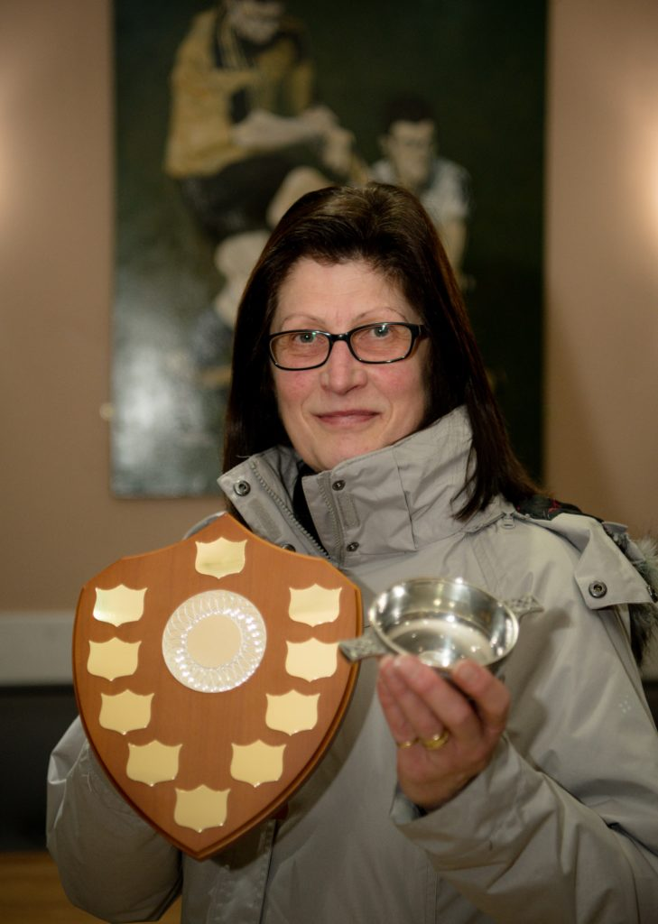 Hazel Maxtone accepted the development player of the year (women's) trophy on behalf of her granddaughter Leah Maxtone.
