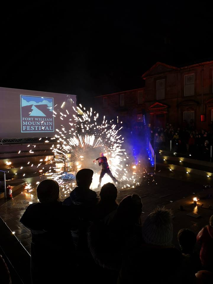 Cameron Square was lit up by pyrotechnics on the launch night of this year's festival.