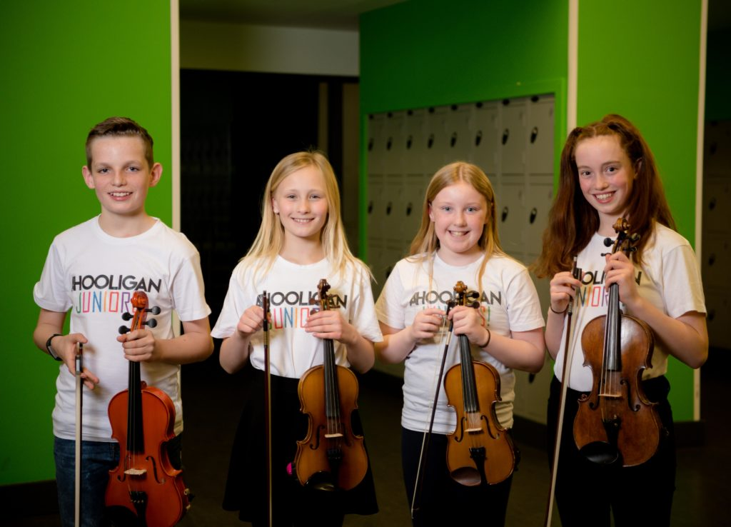 A'Hooligan junior group played at the final concert.