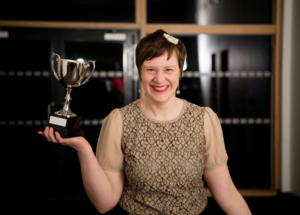 Anja Inkson won the premier adult vocal award.