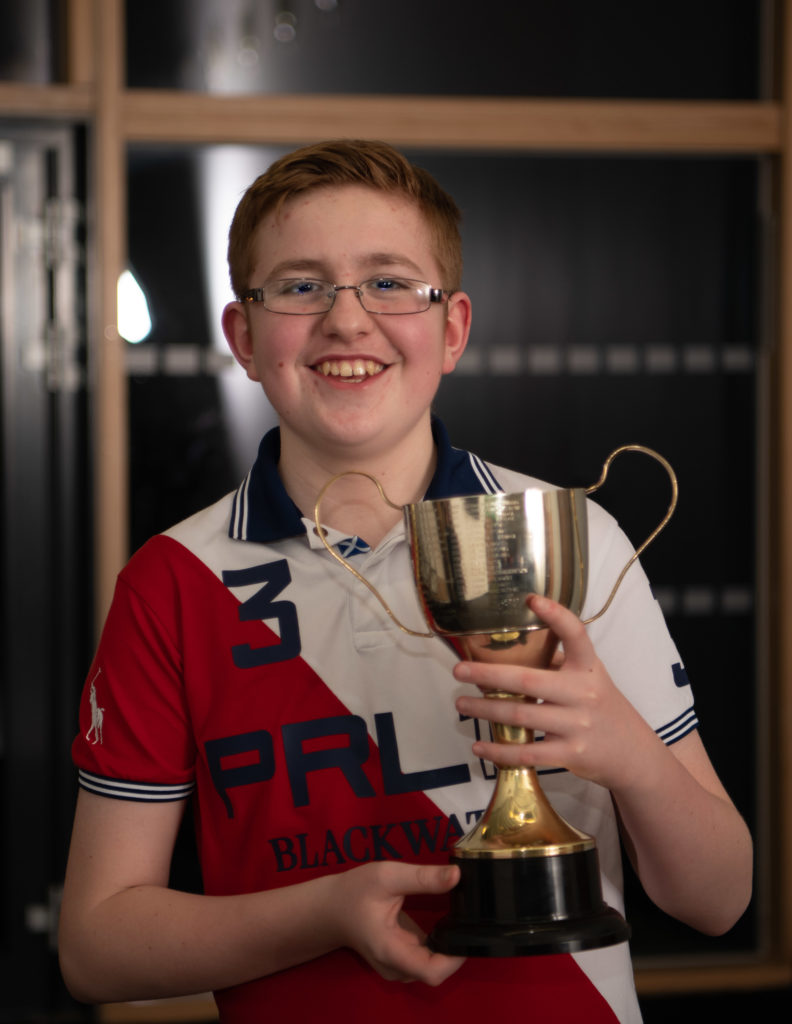 Cameron MacIssac won the John Tague Memorial Trophy for accordion.