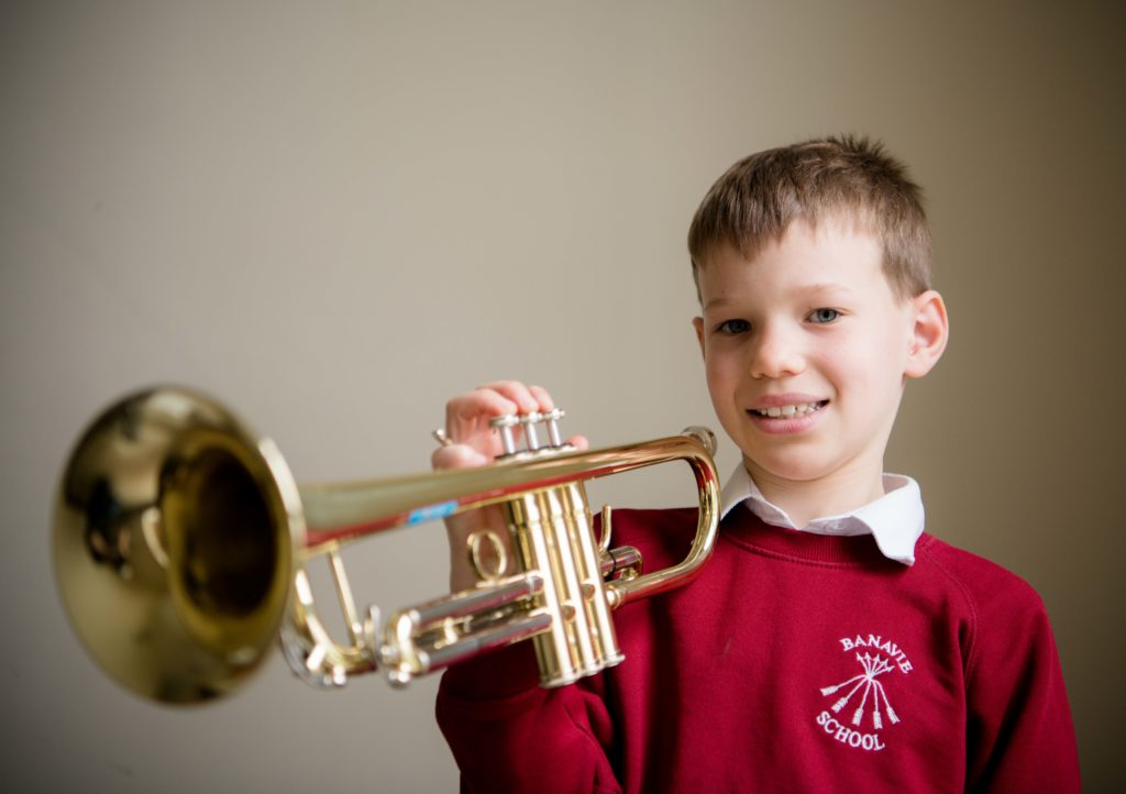 Digby Dodman of Banavie Primary School got first place in the brass solos elementary.