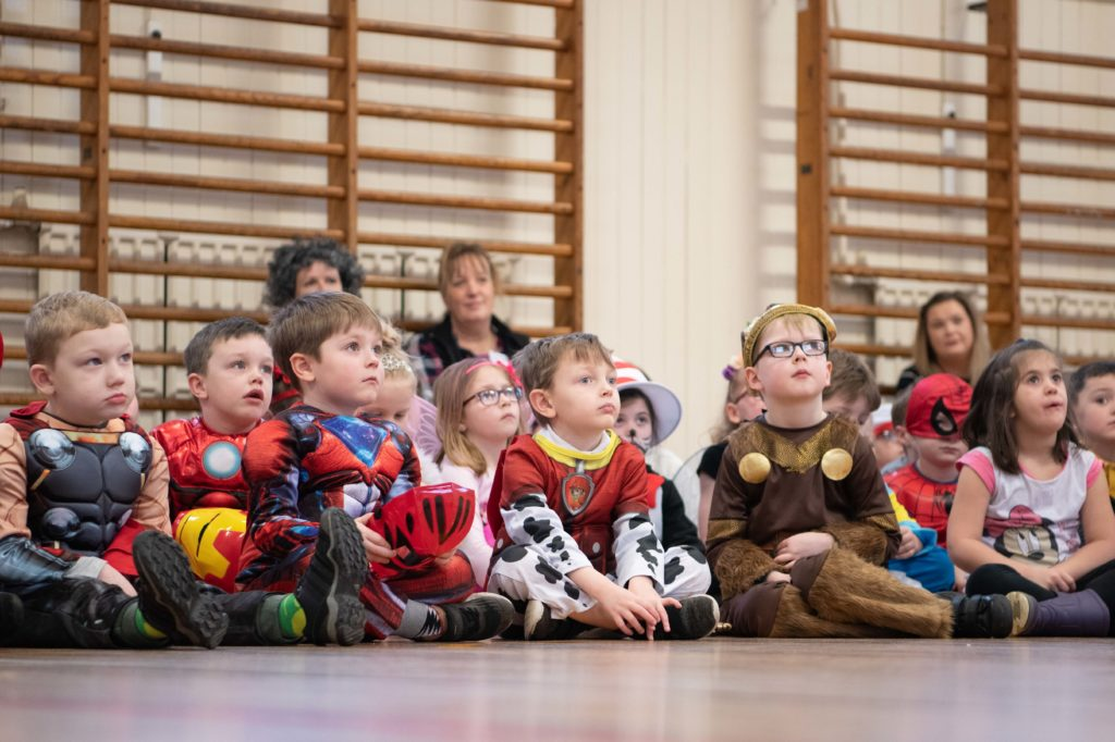 Children dressed as their favourite literary characters.