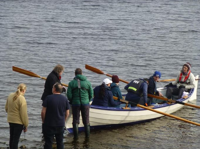 The Mingulay crew out on the water at Loch Awe.
