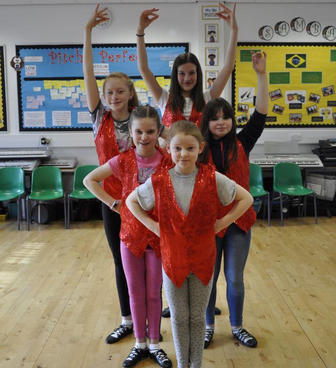 Highland dance class.