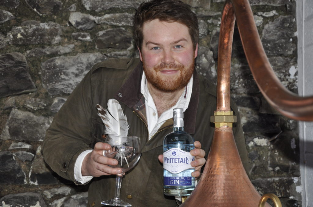 Whitetail gin co-founder Jamie Munro with the new copper still all the way from Portugal where it was handmade.