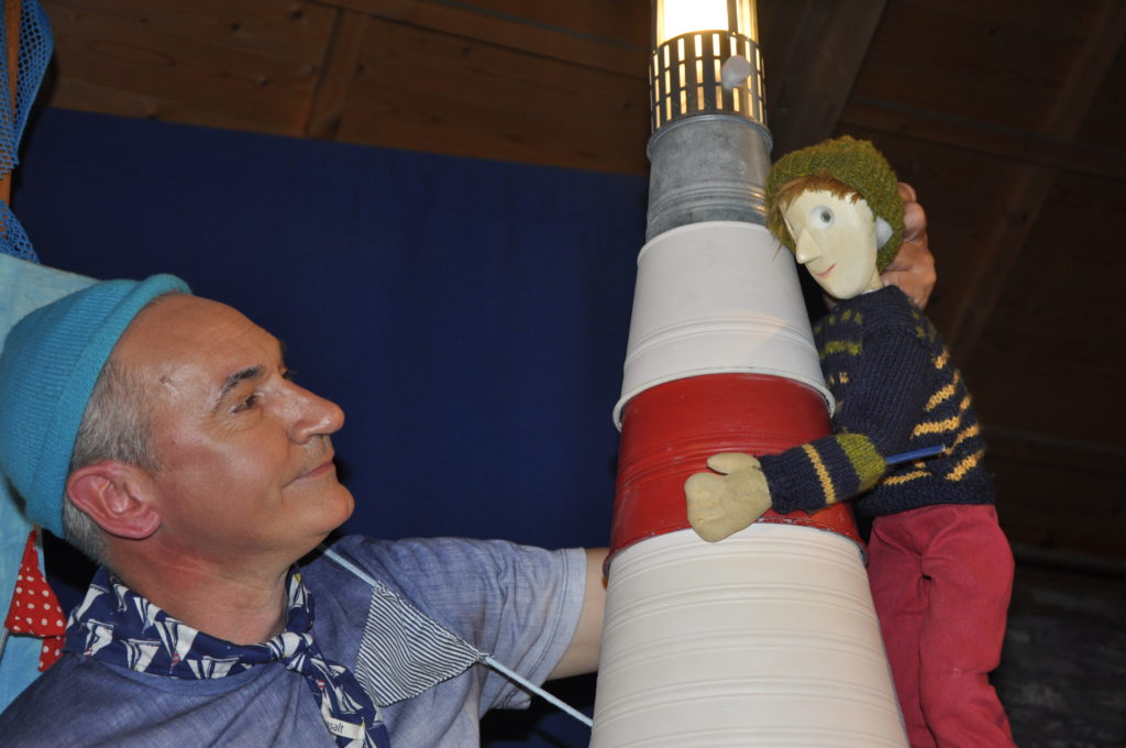 Steve Smart with Tom the lighthouse keeper