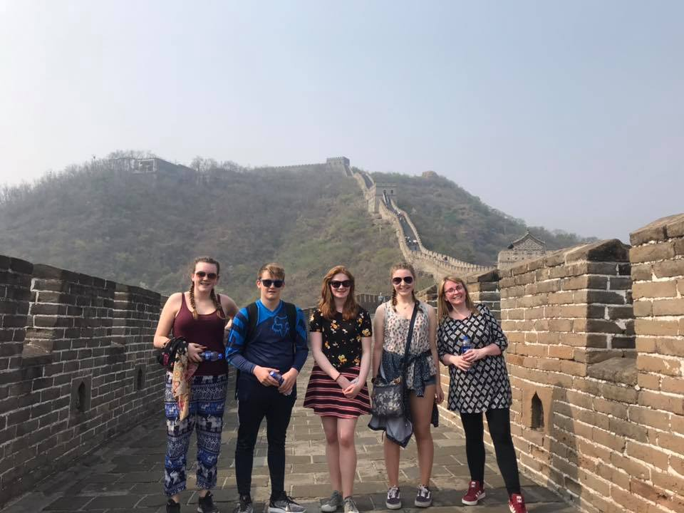 The group from Mallaig High visited the Great Wall near Beijing.  NO F18 Mallaig Music China 10
