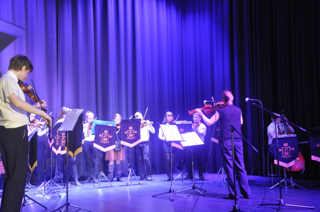 The OHS Music Department entertained guests.