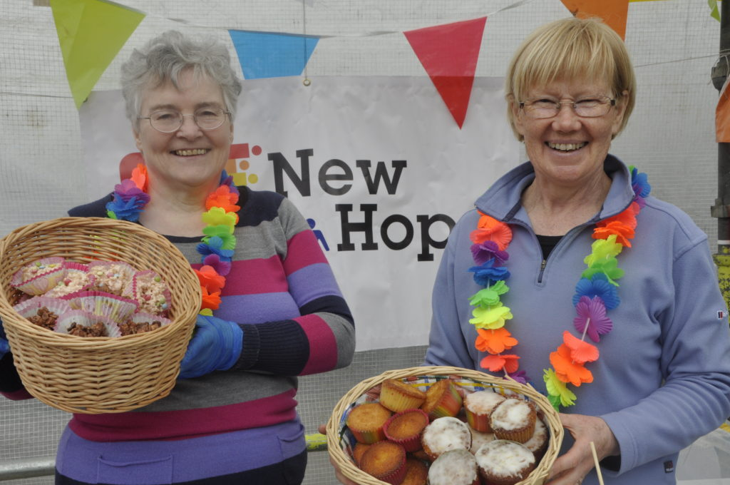 New Hope's Beth Campbell and June Bleazard join the party.
