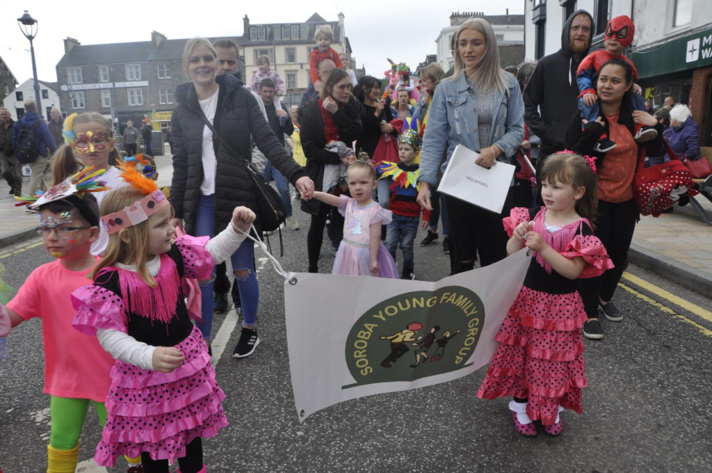 Soroba Young Family Group joined Oban Charities Day parade.