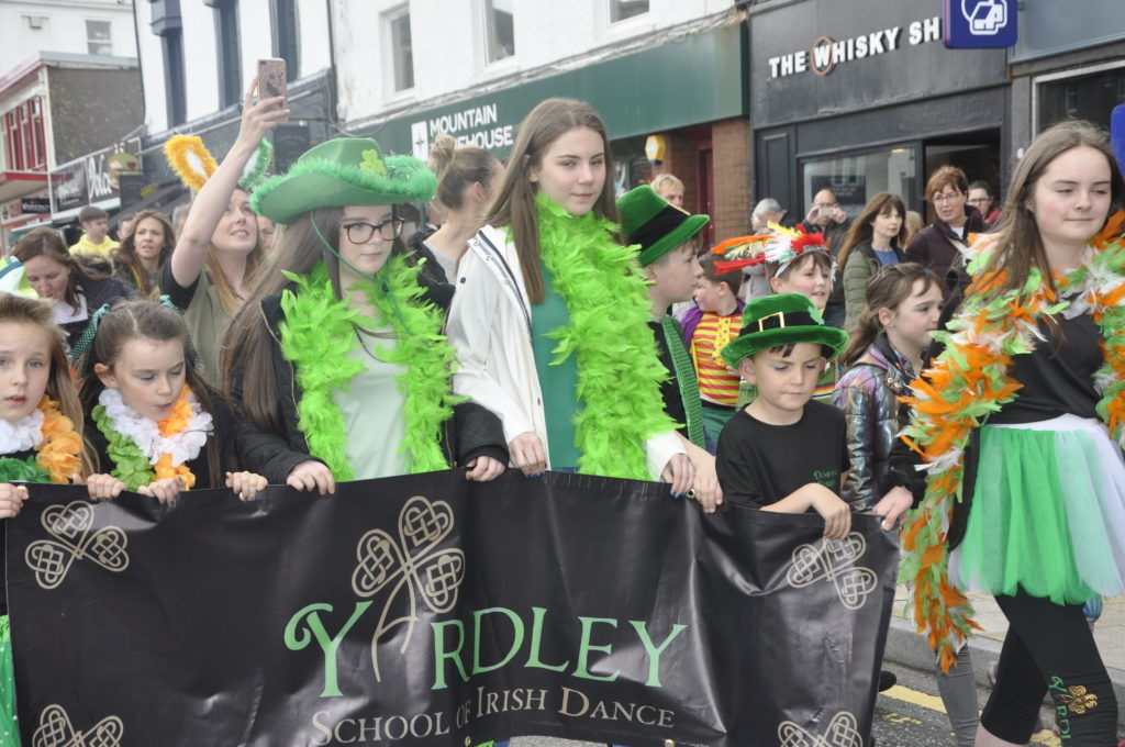 Yardley School of Irish Dancing brought a splash of colour to the parade.