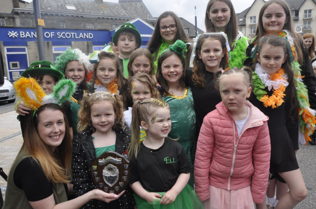 Oban's Yardley School of Irish Dancing took first prize for the best dressed group in the carnival parade.