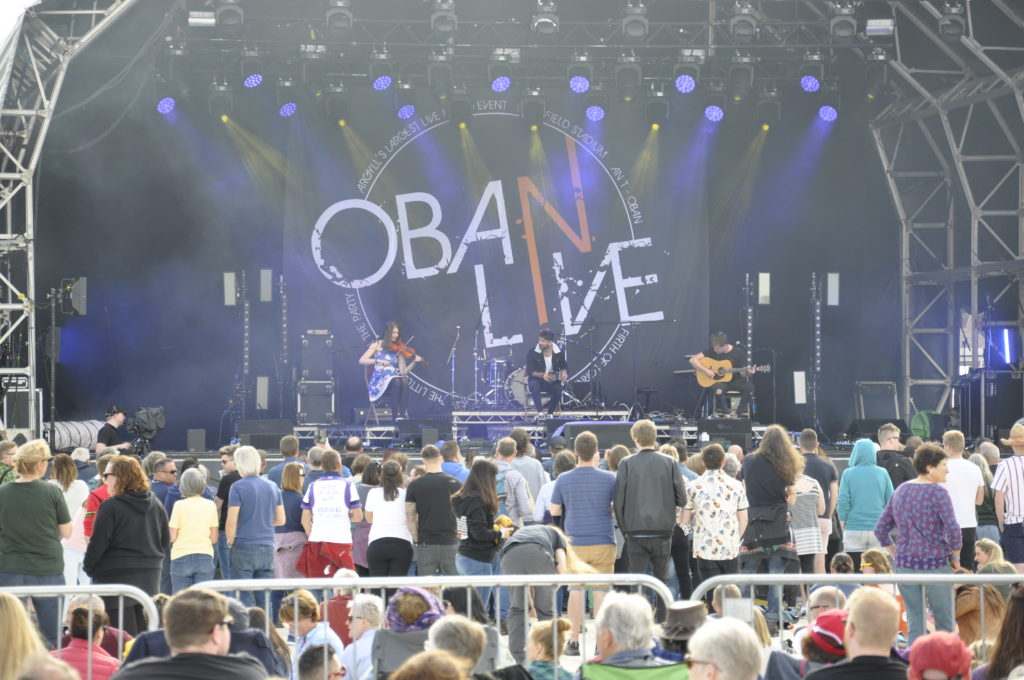 Mossfield Stadium needs improvements to stage games and large events like Oban Live.