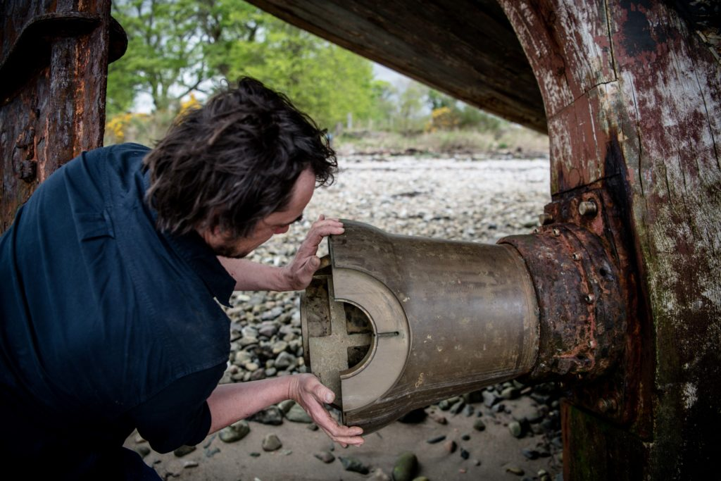 The boat's propeller was stolen some years ago by looters.  Photo: Abrightside Photography.  NO F23 MV Dayspring Lukas 04