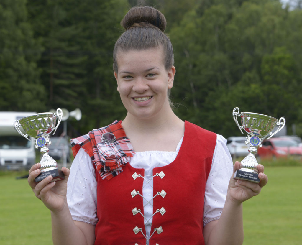 Fort William dancer, Erin MacFadyen, who scooped the National award. Photograph: Iain Ferguson, alba.photos