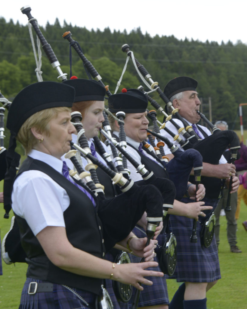 Lochaber Pipe Band entertain the crowds. Photograph: Iain Ferguson, alba.photos