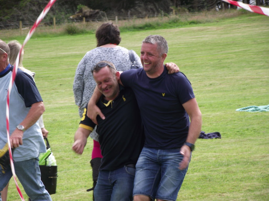 There was lots of laughs in the three-legged race.  NO F29 3leggedrace
