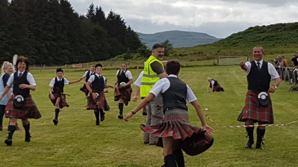 Some scenes from the races.  NO F29 kilted runners