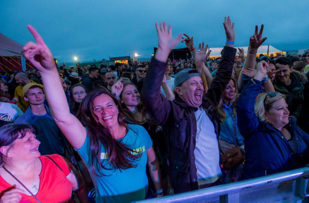 Hands up for TMF. Photograph: Alan Peebles