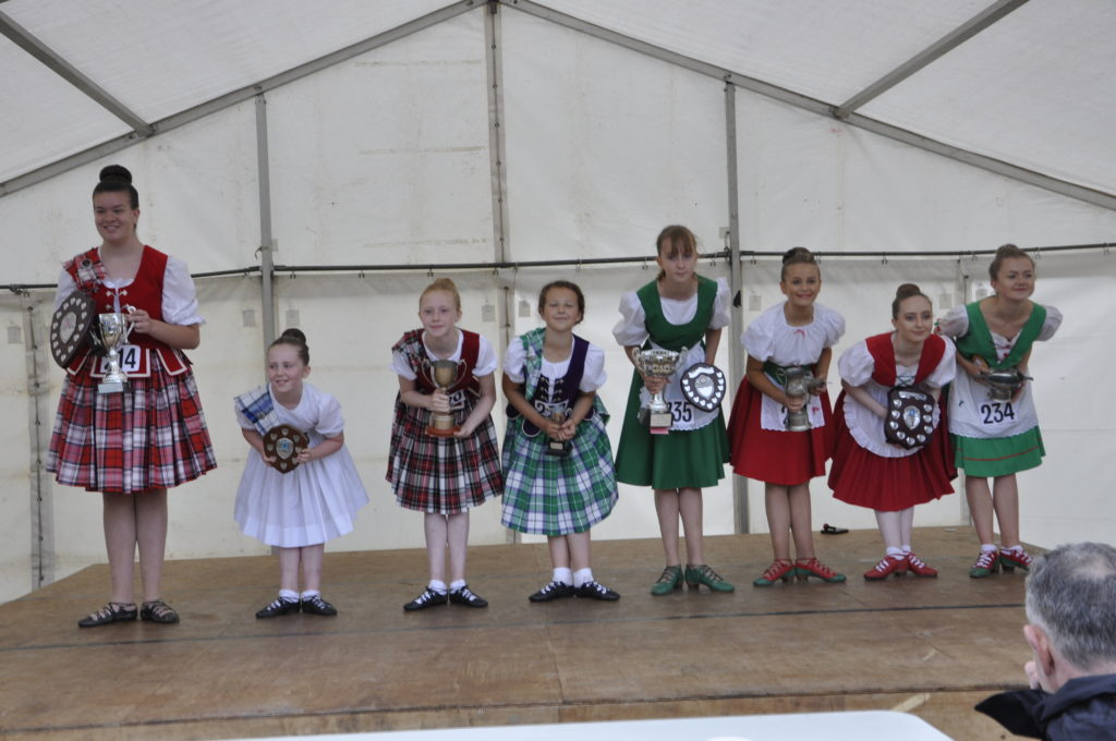 The Highland dancers provided plenty of colour and entertainment throughout the afternoon.