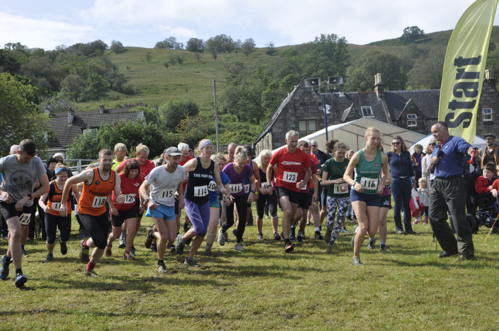 Twenty three hardy runners lined up at the start of the hill race.