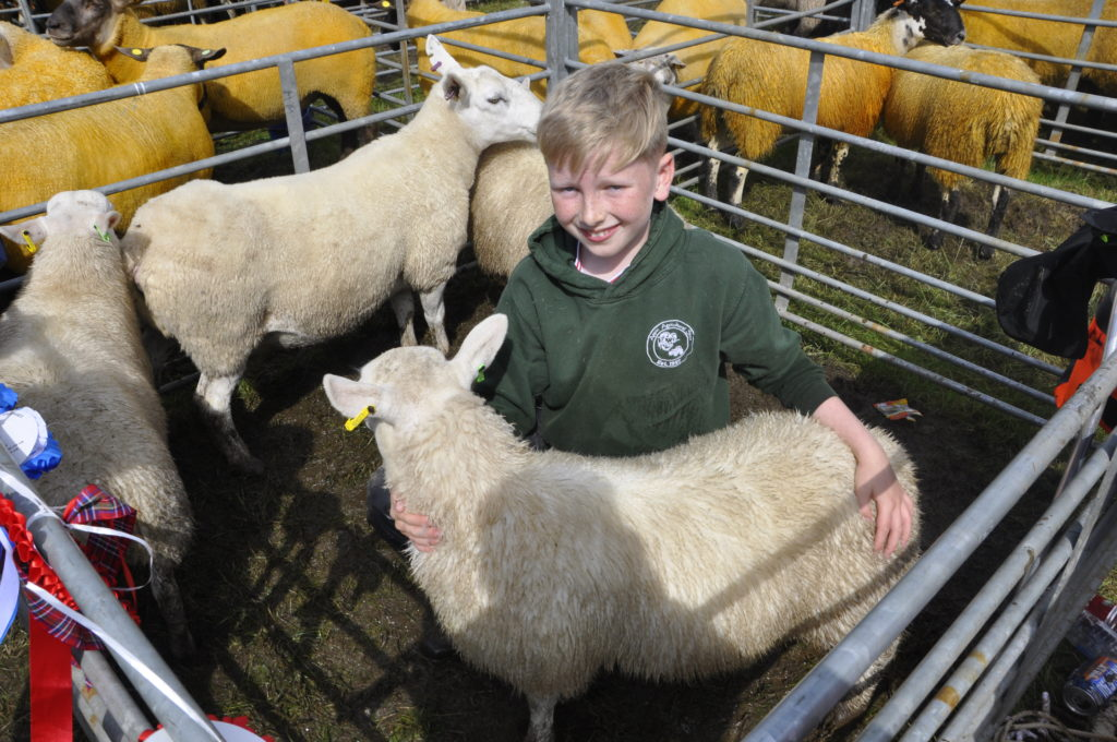 Appin's own Roan MacColl won the young handler trophy.