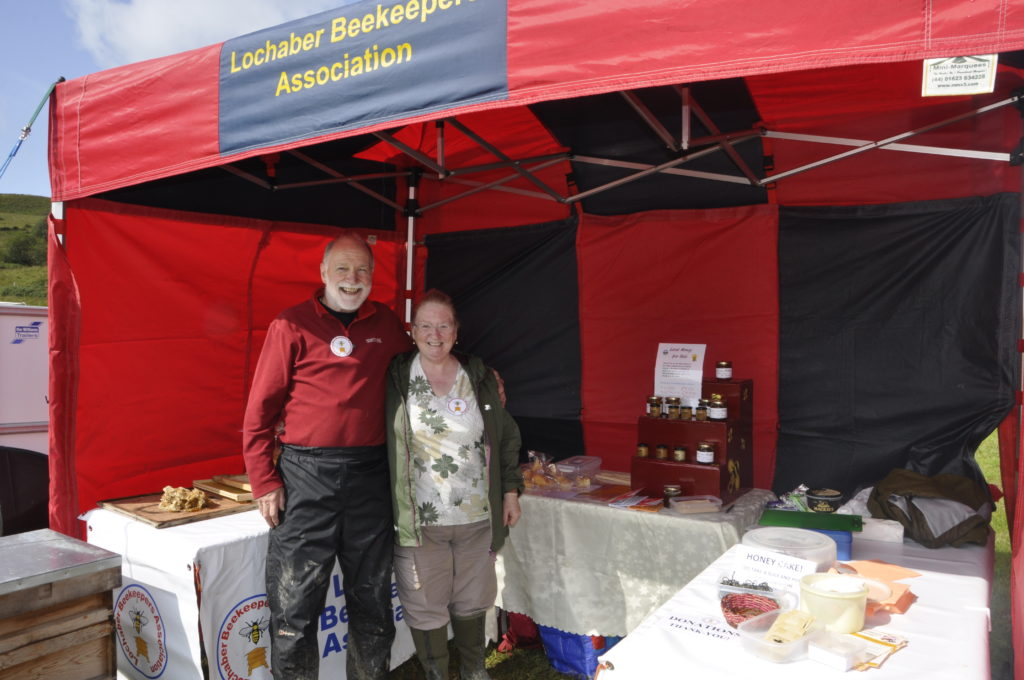 Jim and Alison Blair from Lochaber Beekeepers' Association created a bit of a buzz with their new stand.